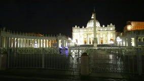 Cuadrado Roma de San Pedro almacen de metraje de vídeo