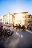 Cuadrado santo de Trinita en Florencia Fotografía de archivo libre de regalías