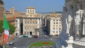 Cuadrado veneciano hermoso en Roma - di Venezia - ROMA, ITALIA de la plaza almacen de metraje de vídeo