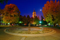 Cuadrado y catedral, Maribor de Slomsek Imagen de archivo