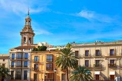 Cuadrado y Santa Catalina de Valencia Plaza Reina Imágenes de archivo libres de regalías