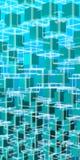 Cuadrados azules en espacio de la tecnología