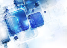 Cuadrados azules translúcidos Fotografía de archivo libre de regalías