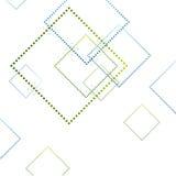 Cuadrados azules y verdes abstractos en blanco Foto de archivo