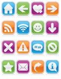Cuadrados brillantes del símbolo del Web Fotos de archivo libres de regalías