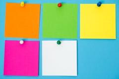 Cuadrados coloreados de la nota Fotos de archivo libres de regalías
