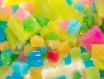 Cuadrados coloreados del hielo Fotografía de archivo
