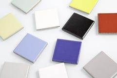 Cuadrados coloreados desordenados Imágenes de archivo libres de regalías