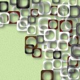 Cuadrados coloreados en un fondo verde Imagenes de archivo