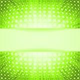 Cuadrados de la tecnología con la explosión verde de la flama ilustración del vector