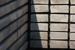 Cuadrados de madera Fotografía de archivo