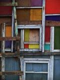 Cuadrados de madera coloreados Fotos de archivo libres de regalías