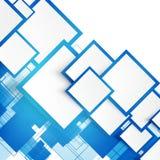 Cuadrados del azul del vector abstraiga el fondo ilustración del vector