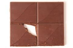 Cuadrados del chocolate Fotografía de archivo