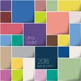 cuadrados del color 3d 2018 colores Fotografía de archivo libre de regalías