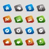 Cuadrados del corte - iconos del Web site y del Internet Imagen de archivo libre de regalías