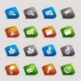 Cuadrados del corte - iconos del Web site y del Internet Imágenes de archivo libres de regalías