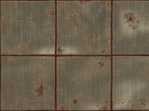 Cuadrados del metal de Rustry Foto de archivo libre de regalías