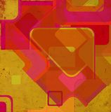 Cuadrados en la pared del grunge ilustración del vector