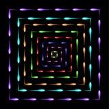 Cuadrados en los cuadrados que vuelan el fondo del extracto de las luciérnagas Fotos de archivo libres de regalías