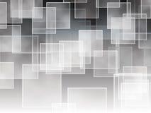 Cuadrados en una pendiente blanco y negro Imagen de archivo