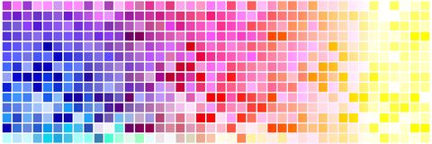 Cuadrados minúsculos coloridos stock de ilustración