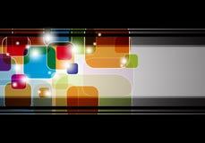 Cuadrados multicolores abstractos con el marco negro Fotografía de archivo libre de regalías