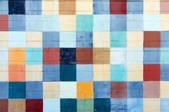 Cuadrados pintados del color Fotografía de archivo libre de regalías