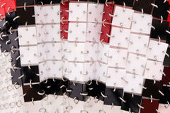 Cuadrados plásticos de acrílico decorativos Fotografía de archivo libre de regalías
