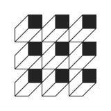 Cuadrados planos monocromáticos del estilo Imagen de archivo