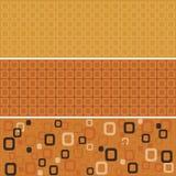 Cuadrados redondeados anaranjados inconsútiles Fotografía de archivo