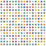 Cuadrados redondeados multicolores Imágenes de archivo libres de regalías