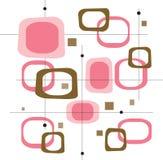 Cuadrados rosados retros (vector) Fotografía de archivo libre de regalías