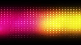 Cuadrados rosados y amarillos móviles ilustración del vector