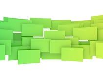 Cuadrados verdes 3d Imagen de archivo libre de regalías