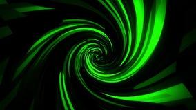 Cuadrados verdes de Digitaces con el fondo del lazo de la distorsión VJ del vórtice metrajes