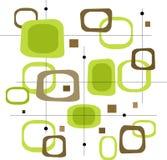 Cuadrados verdes retros (vector) Imagen de archivo