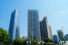 Cuadrados y edificios de ciudad Fotografía de archivo