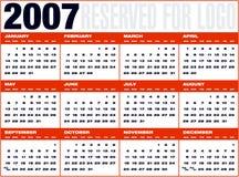 Cuadricula van Calendario9 Royalty-vrije Stock Foto