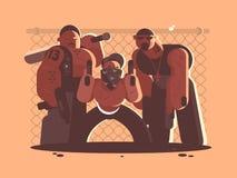Cuadrilla criminal de hombres ilustración del vector