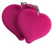Cuadrilla de cadena de dos corazones cariñosos Imagen de archivo