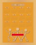 Cuadro 2013 de yeso que se pega del calendario Fotos de archivo libres de regalías