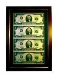 Cuadro afortunado de dos dólares Fotografía de archivo