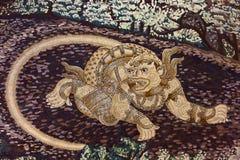 Cuadro antiguo de Ramayana Fotografía de archivo libre de regalías