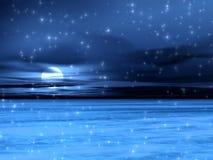 Cuadro azul de la nieve Fotos de archivo