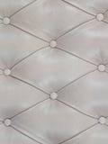 Cuadro blanco del cuero genuino Imagen de archivo
