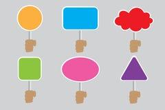 Cuadro de diálogo en el poste indicador Fotografía de archivo libre de regalías