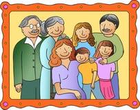 Cuadro de la familia Fotografía de archivo libre de regalías