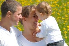Cuadro de la familia con el niño Fotografía de archivo
