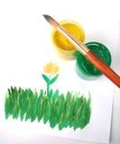 Cuadro de la hierba Foto de archivo libre de regalías